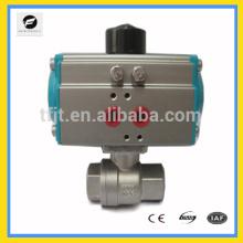 AC24V, AC220V Robinet à tournant sphérique en acier inoxydable Robinet pneumatique d'actionneur