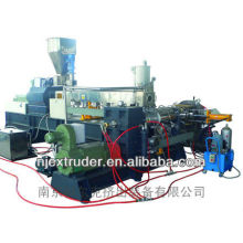 PE/EVA Carbon black masterbatch two stage compounding extrusion line granulator machine