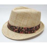 Señoras sombreros con dos colores de papel