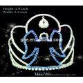 Mode Partei Tiara Haar Zubehör Blumen Tiara königlichen Krone Silber Uhren rosa Prinzessin Tiara