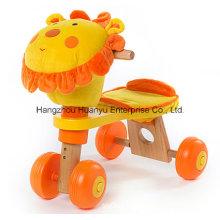 Nouvelle bicyclette en bois design avec tête de lion