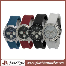 Multicolor Fashion Silicone Watch for Ladies