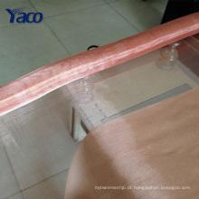 Tela de malha de cobre decorativa para fabricação de jóias