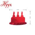 HYYX Nuevo Estilo OEM Diseño al por mayor de la boda bachelorette decoración del partido del brillo del oro de papel