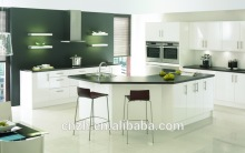 CE approved shaker style high end self integrated lacquer kitchen cabinet with glass door for homes furniture