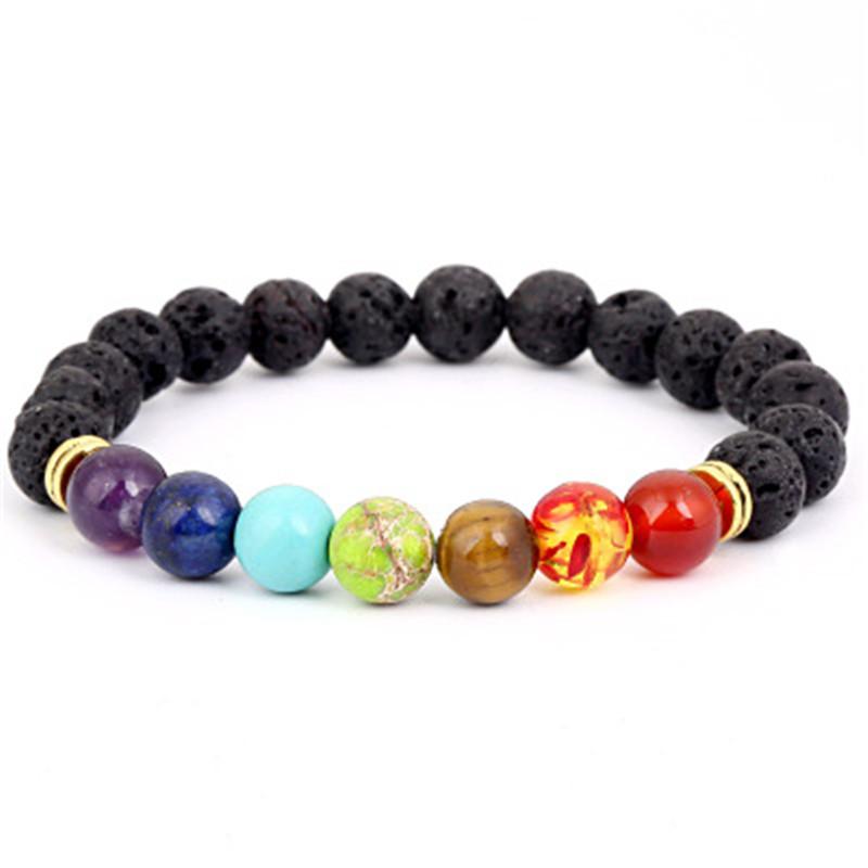 Lave Stone Chakra bracelet