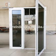 Ventana de marco de aluminio abatible teñida gris cristalina reflexiva completamente moderada modificada para requisitos particulares de la ventana