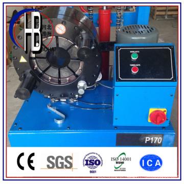 Máquina de crimpagem para mangueira P20 com ferramenta de troca rápida