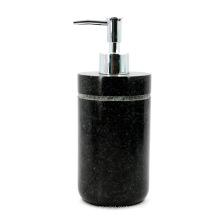 Distributeur de lotion de granit noir Distributeur de savon liquide de granit