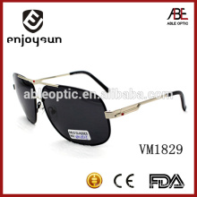 Europe style big size men metal sunglasses with CE& FDA Standard