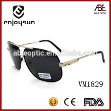 Óculos de sol de homens de tamanho grande estilo Europa com CE e FDA Standard