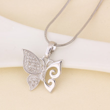 Xuping Copper Jewelry Butterfly Pendant in Rhodium Color