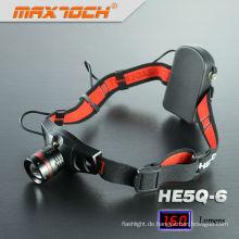 Maxtoch-HE5Q-6 Aluminium Cree Q5 einstellbare hellste Stirnlampe