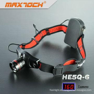 Maxtoch HE5Q-6 Cree Q5 Zoom caza cabeza LED luz