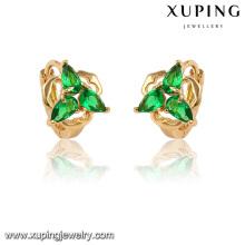 28230-Xuping Jóias Moda Diamante Huggie Brincos