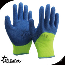SRSAFETY 3/4 coated latex glove with crinkle finish