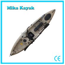 Canoa de pesca Kayaks de pedal com sistema de leme