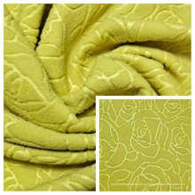 Флисовая ткань из 100% полиэстера с тиснением