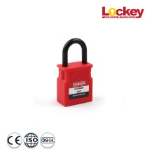 Good Quality for China Plastic Padlock,Brady Padlock,Loto Padlock Manufacturer Lockey 25mm Plastic Shackle Safety Padlock export to Tajikistan Factories