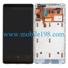 Asamblea de LCD y digitalizador con marco para Nokia Lumia 800