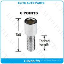 6 puntos Tuner Lug Bolts para coche