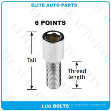 Parafusos de Lug Tuner 6 pontos para carro