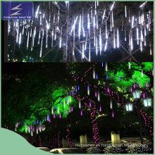 Romántica lluvia de meteoros lluvia tubos de luz de Navidad LED