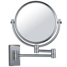 Miroir grossissant de salle de bains fixé au mur de beauté réglable