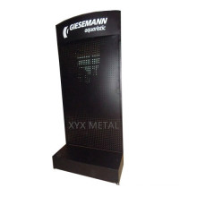 Silk Logo Metall Pegboard Boden Regal Rack Werkzeuge Ausstellung Display Stand