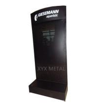 Silk Logo Metal Pegboard Floor Shelf Rack Tools Exhibition Display Stand