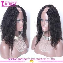 2015 venta caliente Afro Kinky U Parte peluca 7A Grado Mongolian cabello humano Afro Kinky U parte peluca