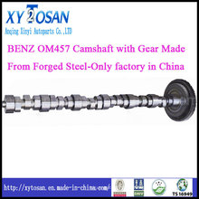 Aço forjado para Benz Om457 Camshaft com engrenagem