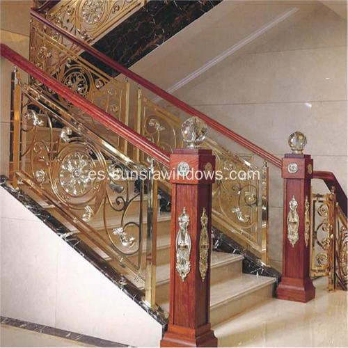 China Interior de Lujo de Aluminio y Escaleras de Escalera de Cobre ...
