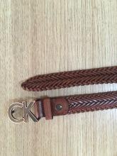 100% Italia Genuine Leather Braided belt