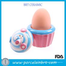 Suporte de copo de ovo de forma de sorvete criativo