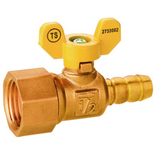 J2038 Brass female thread integral leakproof gas ball valve CW617N