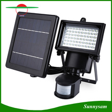 60 LED Solar Powered Light Light Sensor de mouvement LED Flood Light Lamp Lampe d'urgence montée sur le mur