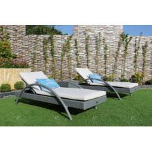 Poly Rattan Outdoor Sonnenliege für Strand, Pool und Resort