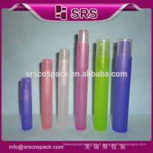 SRS amostra plástico recipientes cosméticos e fantasia 5ml 8ml 10ml 12ml 15ml 20ml 30ml bomba de pulverização grande exibição perfume garrafas