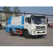 Shacman 4X2 drive camión de basura compacto para 3-10 metros cúbicos