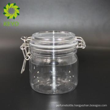300ml clear plastic cosmetic jar