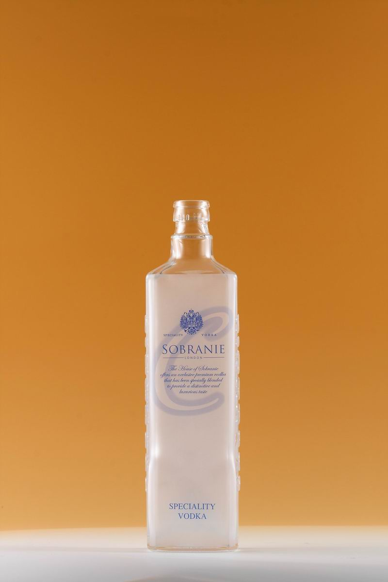 Square Glass Vodka Bottle
