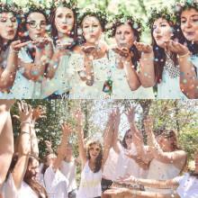 Fiesta de boda biodegradable coloreada del confeti del papel seda biodegradable de las ventas calientes Popper confeti