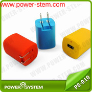 Dual USB Mobile charger,UV/Rubber Coating Finish