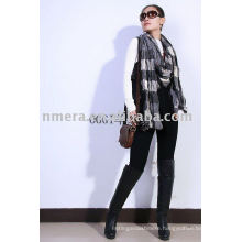 2013 Ladies' checked and wrinkled cashmere scarf