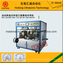 Cup Mask Nose Clip y Earloop Welding Machine Rotary Type N95