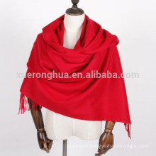 OEM customized plain pashmina women shawl