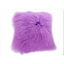 Comfortable Lamb Fur Pillow Genuine Mongolian Sheep