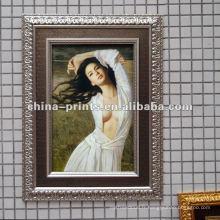 Peinture à l'huile de belle femme