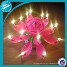 Vela de cumpleaños / vela de la flor de la música para el uso del partido